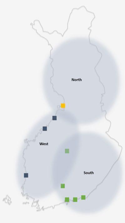 Rauanheimon toimipaikat kartta